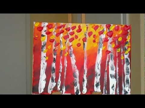 Tanja Bell  How to Paint Birch Forest  Acrylic Painting Landscape Palette Knife