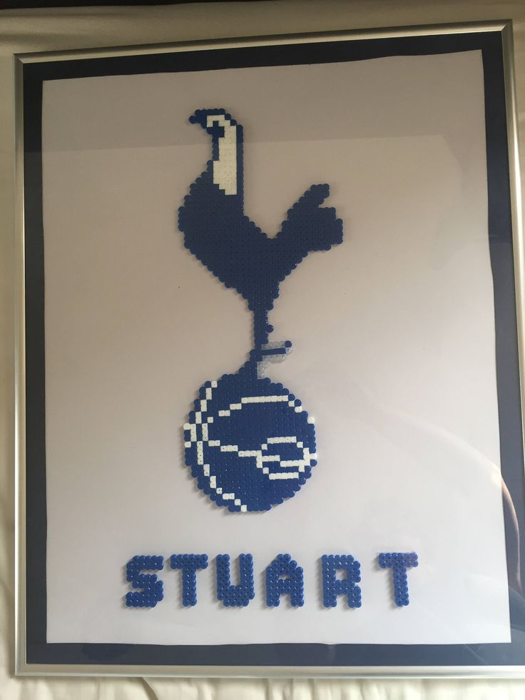 Excited to share the latest addition to my #etsy shop: Wall frame/decoration - Personalised Football logo - Spurs/Tottenham - with ribbon border http://etsy.me/2EgbdJW #housewares #homedecor #white #living #blue #framing #football #frame #walldecoration