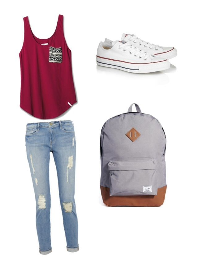a cute simple outfit for school