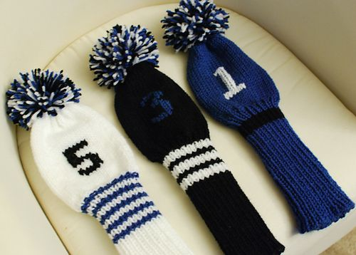 Ravelry: Golf Club Covers with Initials pattern by Lion Brand Yarn