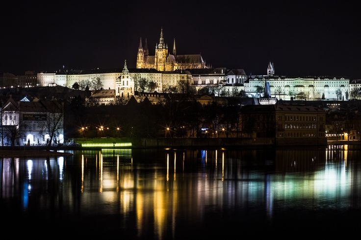 Prague Castle mirrored in Vltava River by Silviu Pal on 500px