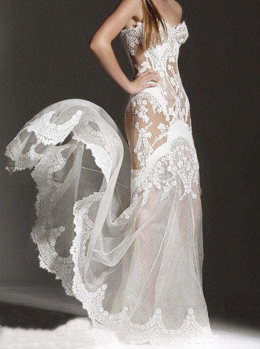 superbe   Robe de mariage fait main pur nuptiale robe de bal par Tiamodress, $299.00