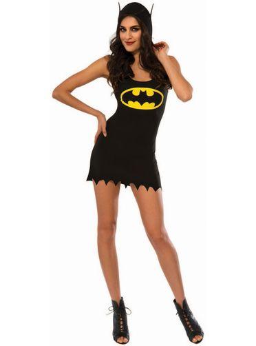Robe costume à capuche Batgirl femme