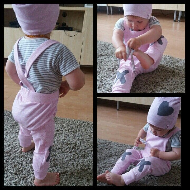 Pink overall and hat