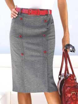 юбка с односторонними складками - моделирование