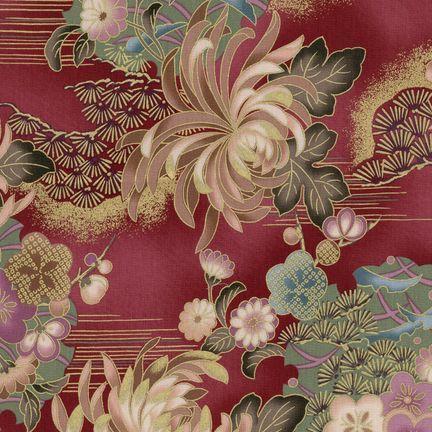 Robert Kaufman Fabrics: HRK-551102L-2 from Hyakkaryouran Sateen