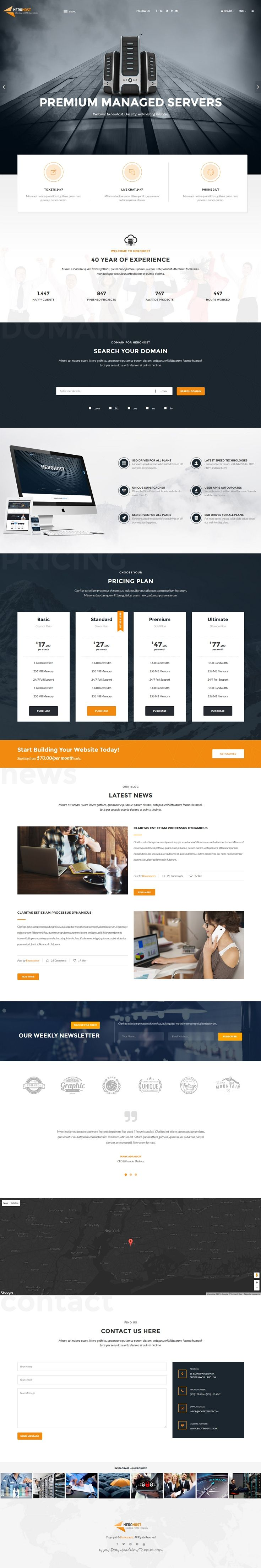 53 best Hosting Web Templates images on Pinterest | Coffee break ...