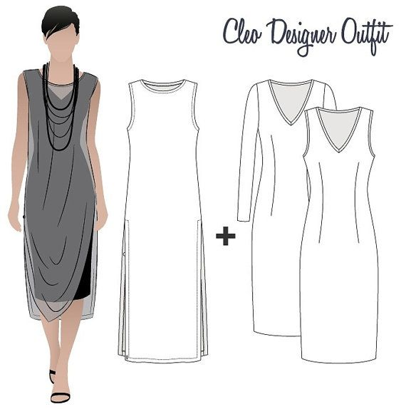 Cleo Designer Outfit - Sizes 10, 12, 14 - Women's PDF Sewing Patterns by Style Arc - Sewing Project - Digital Pattern