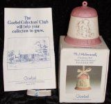 M.J. Hummel 1989 Collectible Edition Christmas Bell - Ride Into Christmas Goebel Antique Holiday Ornament / Figurine from Germany - Mint condition