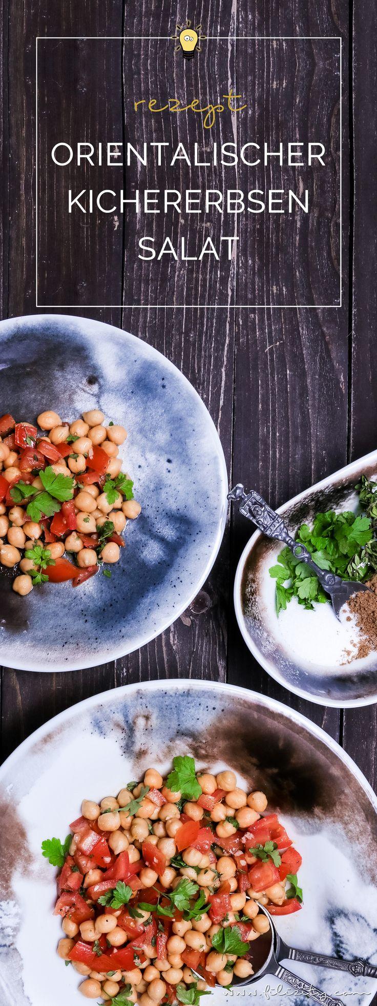 Mezze-Rezept: Orientalischer Kichererbsen-Salat | schnell, gesund, lecker und vegan | Filizity.com | Food-Blog aus dem Rheinland #mezze #salat #vegan