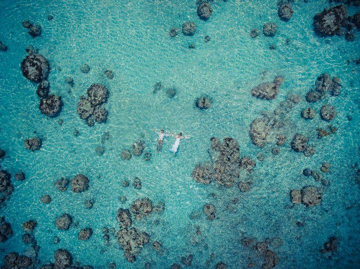 Tahiti-based photographer Helene Havard uses camera drones to redefine wedding photography.