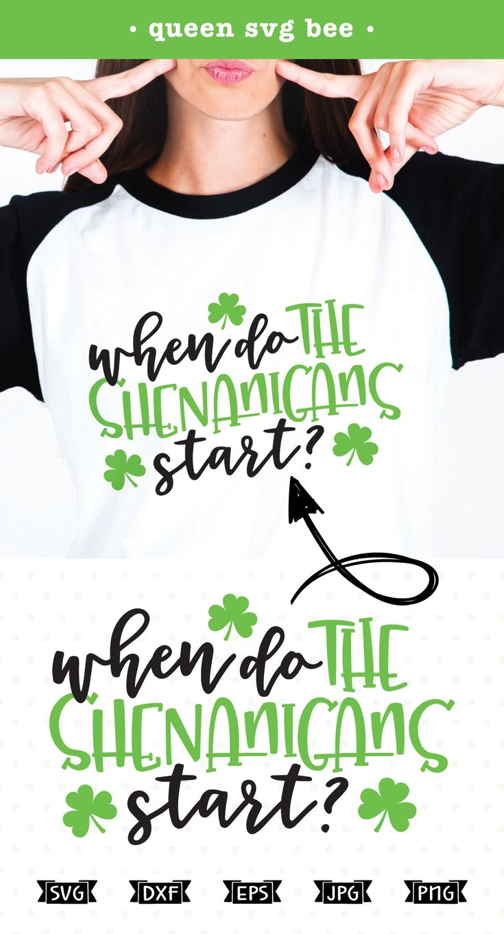 St Patricks Day SVG design for Cricut and Silhouette heat transfer vinyl crafts as well as scrap booking, card making and iron on transfer projects.