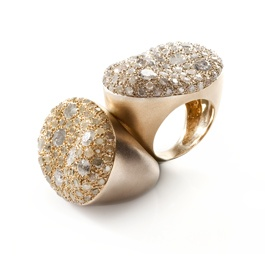 """I love the powerful organic shape of the """"MALAK"""" ring from Nada G jewelry!!"""