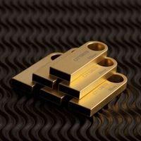 2015 Hot sale  Silver Golden 8GB 16GB 32GB 64GB U Disk pen drive rectangle USB 2.0 usb Flash Drive USB stick