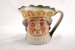 Royal Doulton Character Jug/Toby Mug Old King Cole Yellow Crown (1400)
