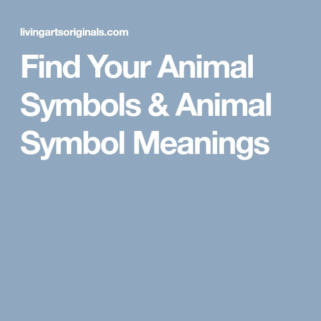 Find Your Animal Symbols & Animal Symbol Meanings
