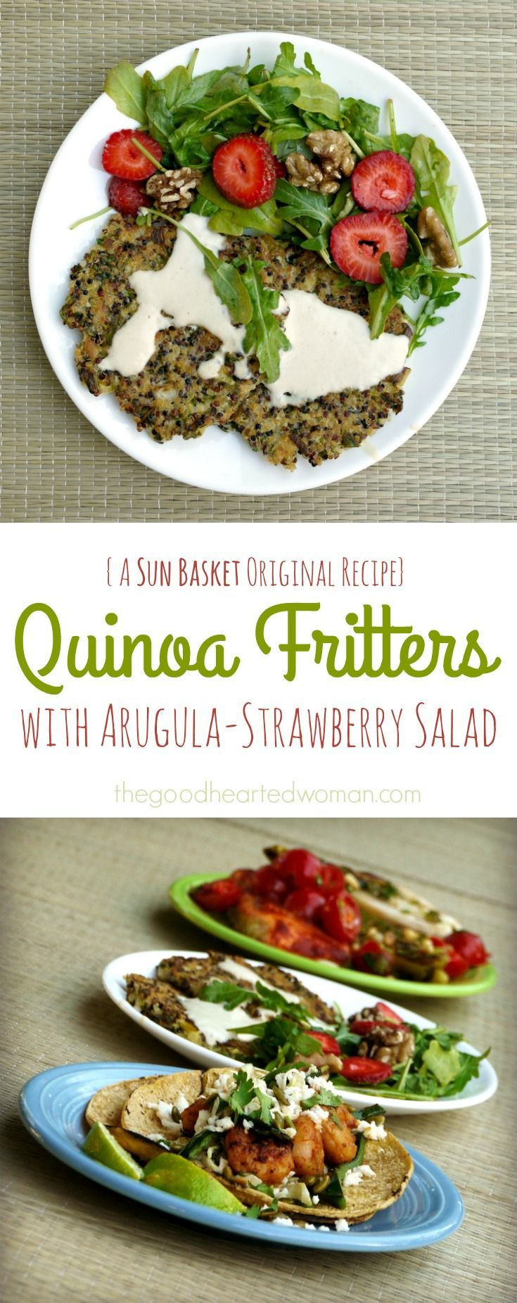 Quinoa Fritters were a huge hit with our family! Clean, Responsible, Healthy & Delicious: A Review of Sun Basket Organic Meal Delivery    The Good Hearted Woman