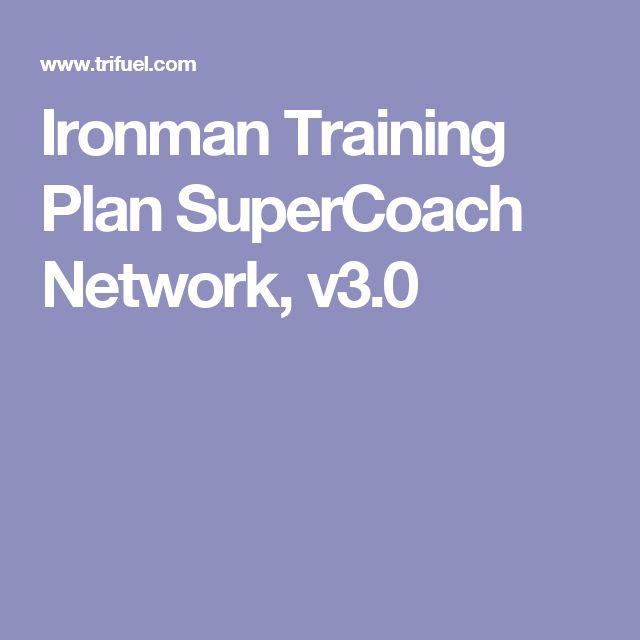 Ironman Training Plan SuperCoach Network, v3.0