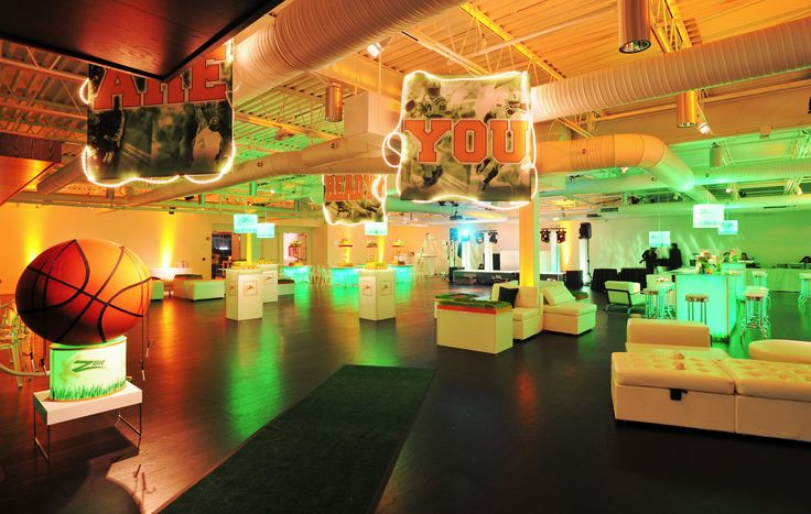 Modern Sports Bar Mitzvah The Loading Dock Designed By