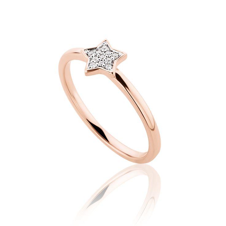 Δαχτυλίδι Symbols Collection από ροζ χρυσό 18Κ με μπριγιάν 0,04ct