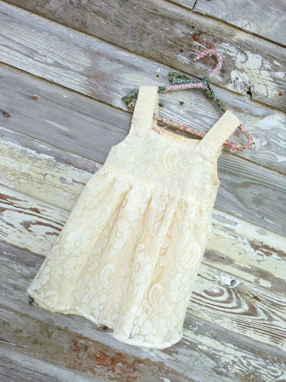 Toddler Dress Upcycled Vintage Lace Curtains by JBCountryCouture, $68.00