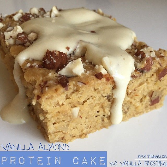 Almond protein cake. This is insanely delicious. Made my own cream cheese frosting and topped with toasted shredded coconut.