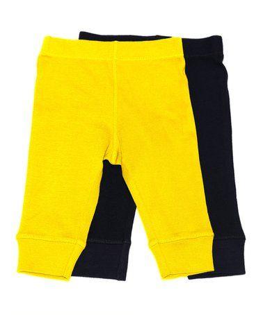 Look at this #zulilyfind! Navy Yellow Legging Set - Infant #zulilyfinds