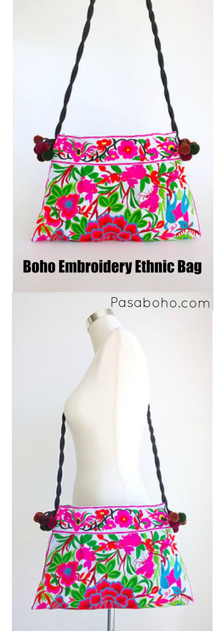 $25 ( Free Shipping Worldwide ) - Boho Embroidery Ethnic Bag from Pasaboho