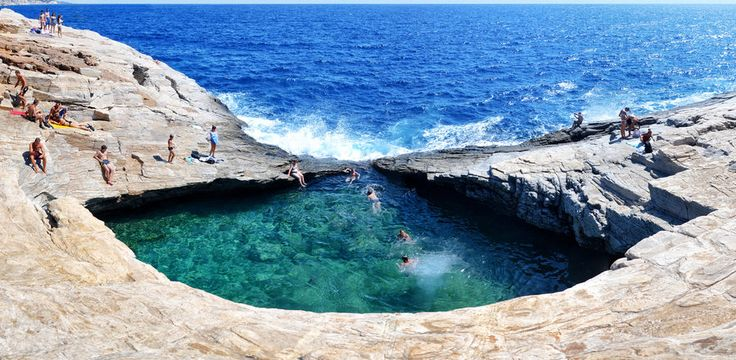 Natural Pool in Thassos, Greece