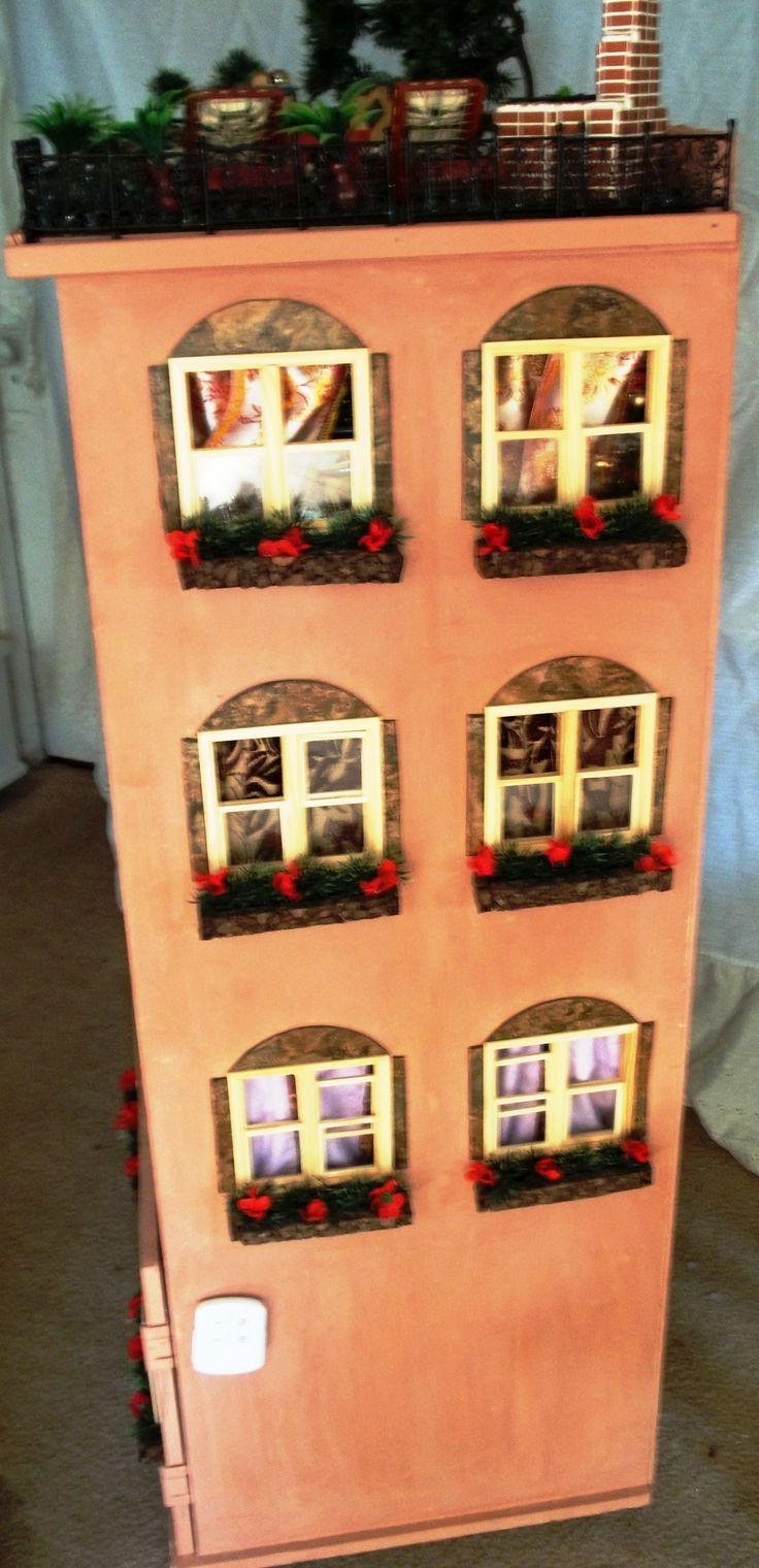 Dollhouse. Mediterranean StyleLittle WhiteRemote