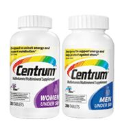 Coupons.com - Save $5.00 on Two Centrum; Men or Women Multivitamins