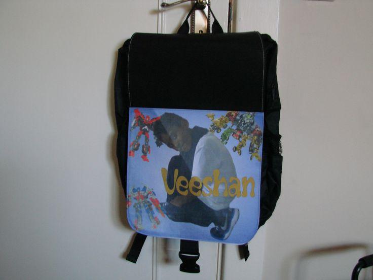 Personalised kiddies back pack
