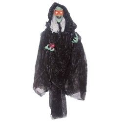 Hanging Witch with Apple #witchcostumes #Halloween coupons discounts savings clearance specials blowouts New for 2013 http://www.planetgoldilocks.com/halloween/witchcostumes.html  #witchcostumes
