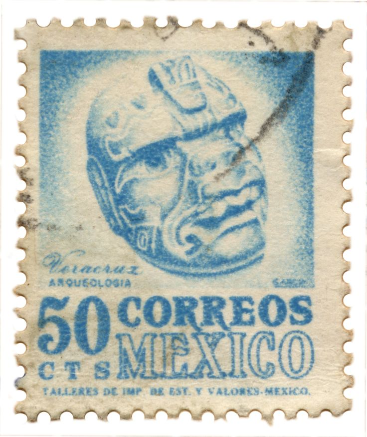 Vintage Mexican stamp