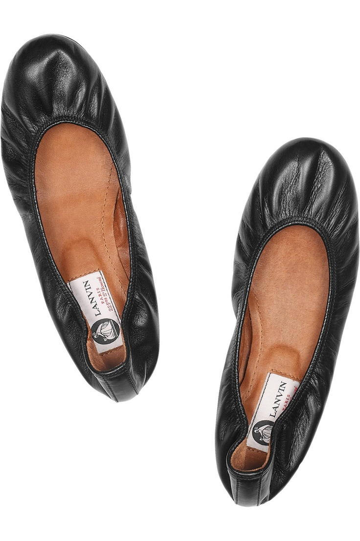 LANVIN  Leather ballet flats  $495. These are a must-have. So comfy - I want them in every colour.
