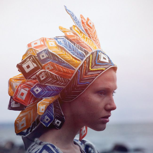 Gorgeous headpiece from Ivana Helsinki fashion show in New York in September 2011