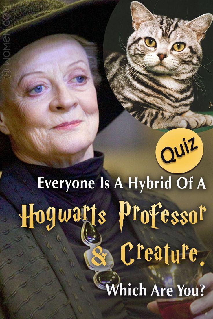 Everyone Is A Hybrid Of A Hogwarts Professor & Creature