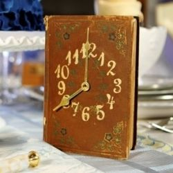 Using a vintage book, clock numbers and paint, personalize your own treasure