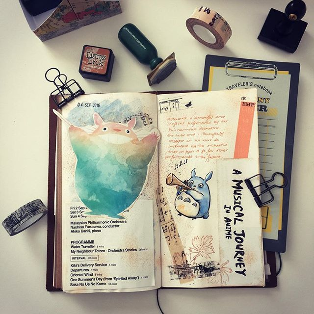 Finally got around to journal a bit about the magical performance my husband and I experienced last month by the Malaysian Philharmonic Orchestra. They played quite a few of our favorite Studio Ghibli pieces and a couple that we've never heard before. I've been so busy with the new house stuff and settling in that I haven't been particularly inspired to do as many crafty things. But I'm getting back to it. I have been commissioned to do a series of greeting cards. And I need to reply my…