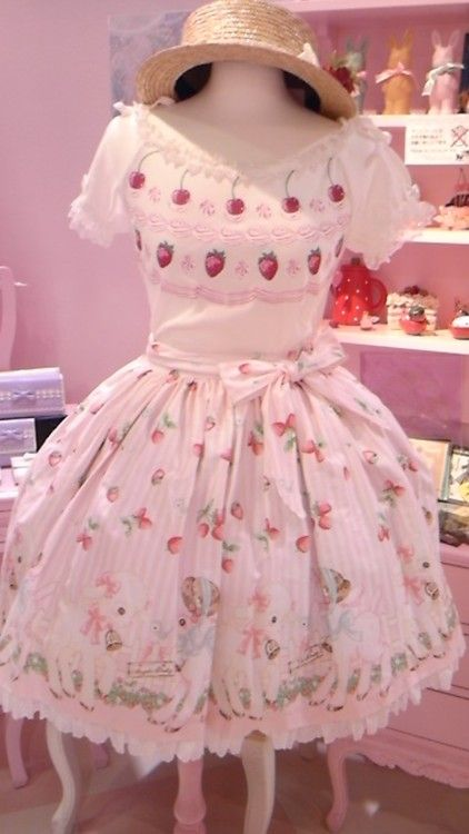 Kawaii strawberry dress