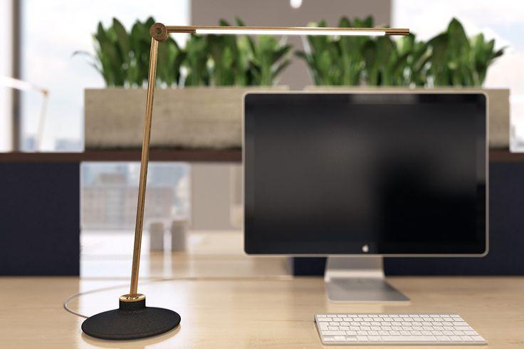 Thin er en serie lamper fra leverandøren Juniper. Bordmodellen kommer i to ulike størrelser og tre ulike finisher. Den kommer også i en variant som går gjennom pulten. Ta kontakt med oss for mer informasjon om dette produktet.  Leveringstid: ca. 5-6 uker