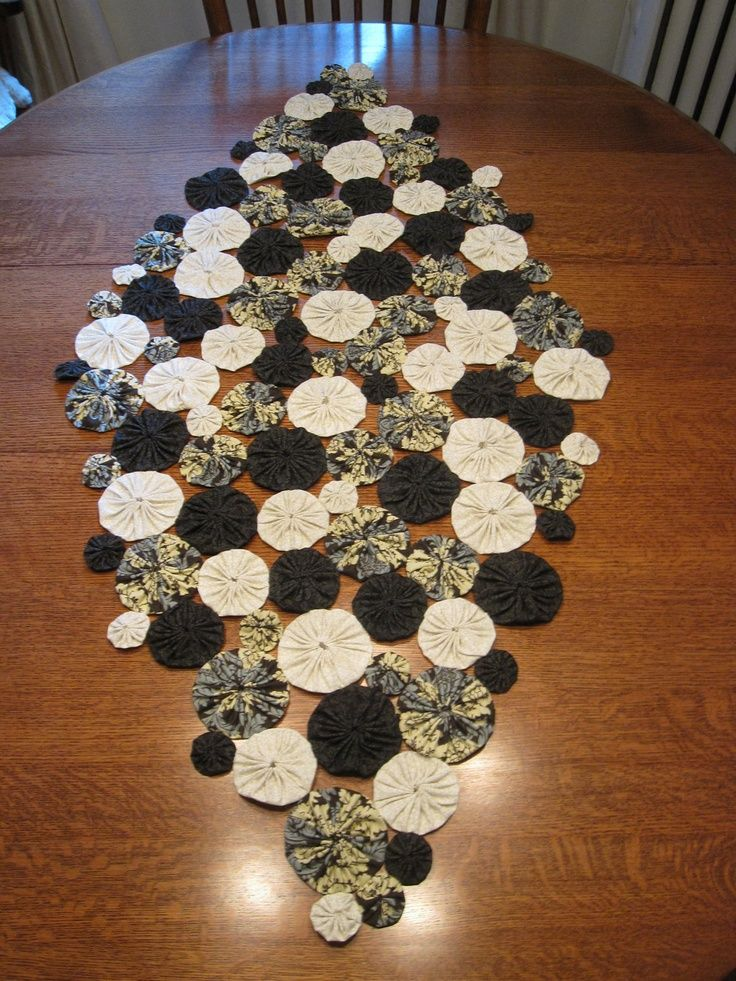 "yo+yo+runners | Yo-Yo Table Runner - ""The Blues"". $100.00, via Etsy. 