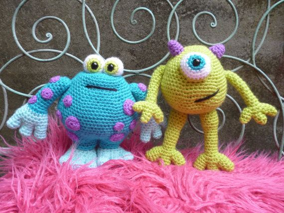 Thursday Handmade Love Week 65 Theme: Monsters Includes links to #free #crochet patterns  Horrid Horace & Scary Gary, Amigurumi Monsters Pattern. via Etsy