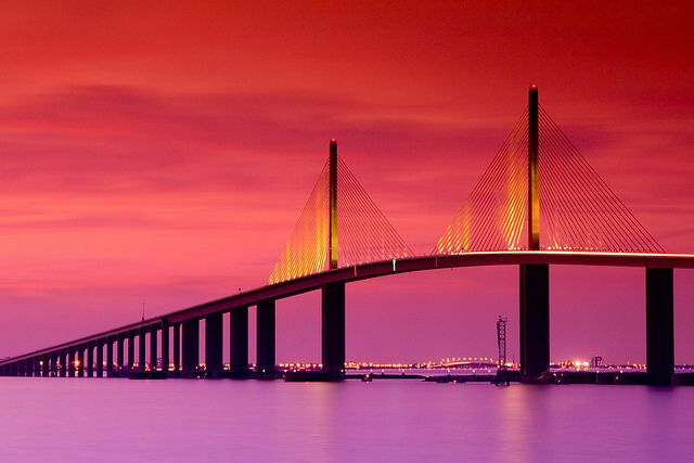 Sunshine Skyway Bridge by VisitTampaBay, via Flickr #VisitTampaBay