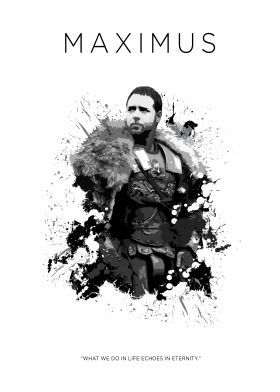 steel poster Movies & TV maximus gladiator spartacus sword warrior badass scott echo black white russell crowe
