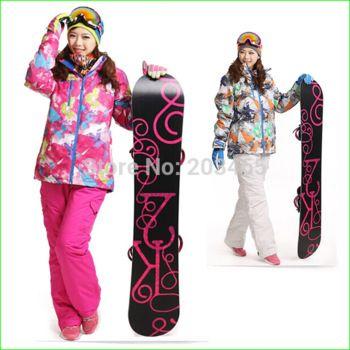 Invierno mujer: Chaqueta Snowboard - a prueba de viento y agua Tambien traje completo de esquí . Traje de Esquí, nieve, suit Top con capucha  y pantalones con tirantes. . Ahora solo 77€-