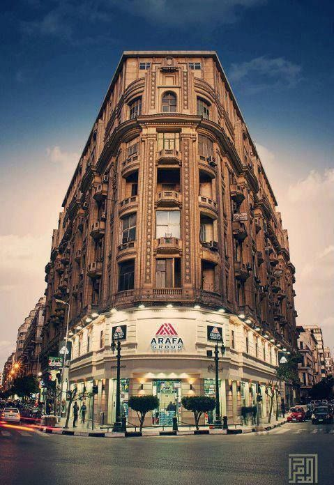 Downtown Cairo - looks like the Yakobian  building from the movie 'Yakobian'.