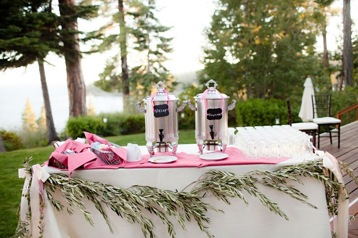 Coffee Bar for Brunch Wedding or Bridal Shower | Celebrations! Party Rentals and Tents