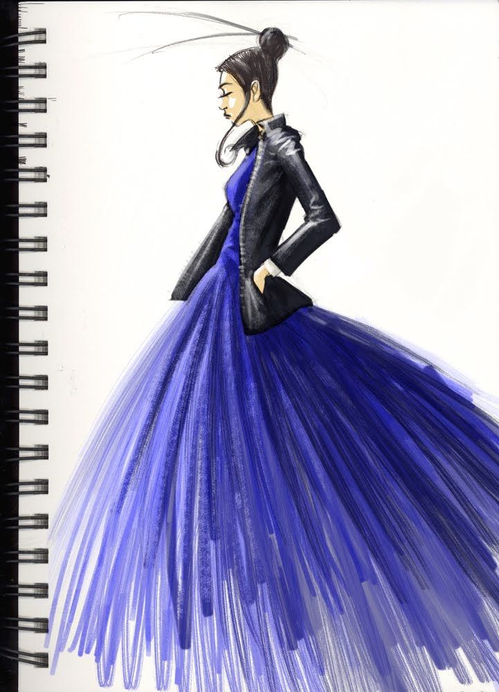Fashion Sketch In Blue Clothing Sketches Pinterest Mulan Illustration Fashion And Fashion
