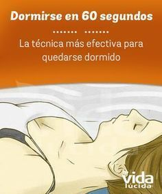 Técnica para quedarse dormido en 60 segundos